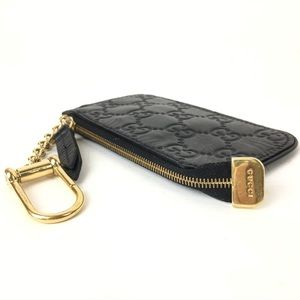 Gucci Bags - GUCCI GG LEATHER ZIPPY COIN KEY CHAIN AUTH 447964